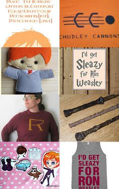 Are you a Ron Weasley addict? It's fine to let your freaky freckles flag fly! I'm a big fan of everything Ron Weasley and Burrow related, so I had to share my love. :)