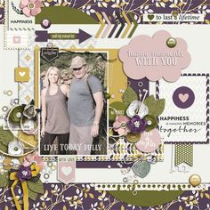Digital scrapbook layout idea using Project Grateful Homemade collection.