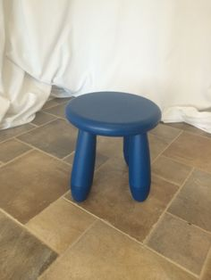 Blue kids stool