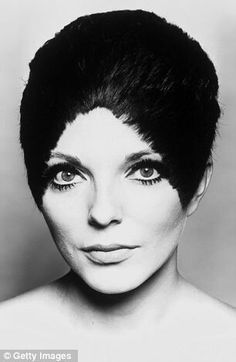 Joan Collins with her Vidal Sassoon cut in 1966. The actress used to send for him to see to her hairdressing needs at the airport