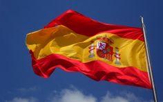 Просмотреть обои испания, флаг, флаттер, ветер
