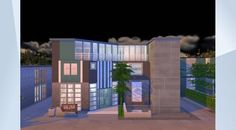 Check out this lot in The Sims 4 Gallery! Building A House, Multi Story Building, Sims 4 Houses, Wellness Spa, Treadmill, Massage, Mindfulness, Swimming, Yoga