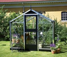 Juliana Compact 7ft x 7ft Wide Greenhouse and Base