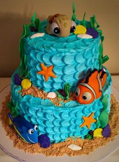 Birthday Cake, Finding Dory Birthday Party Ideas | Pretty My Party