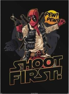 #Deadpool #Fan #Art. (Shoot First!) By: Riptapparel. (THE * 5 * STÅR * ÅWARD * OF: * AW YEAH, IT'S MAJOR ÅWESOMENESS!!!™) [THANK U 4 PINNING!!!<·><]<©>ÅÅÅ+(OB4E)