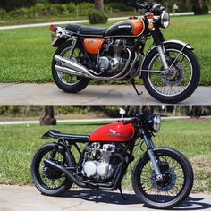Compare yesterday and After Cb550 Cafe Racer, Cafe Racer Honda, Cafe Racer Bikes, Cafe Moto, Cafe Bike, Japanese Motorcycle, Vintage Motocross, Honda Cb, Classic Bikes