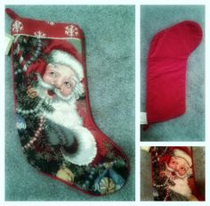 Vintage Santa stocking. by mermaidwatch on Etsy