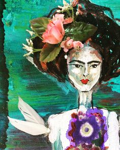 A personal favorite from my Etsy shop https://www.etsy.com/listing/557436767/frida-kahlo-i-paint-flowers-so-they-will