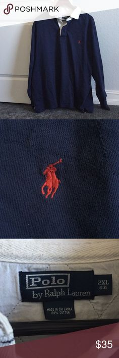 Polo by Ralph Lauren Blue Rugby 🏉 GUC- Length 30 inches Polo by Ralph Lauren Shirts