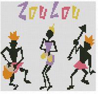 pays - country  - zoulou - point de croix - cross stitch - Blog : http://broderiemimie44.canalblog.com/