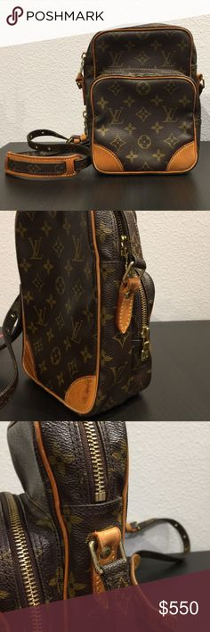 Louis Vuitton Amazon crossbody bag Louis Vuitton Amazon crossbody bag. The inside of the bag is in impeccable condition. He outside only shows minor wear on the back and minimal wear where the strap connects on one side (see pic 2). Great bag for everyday use. No trades. Louis Vuitton Bags Crossbody Bags