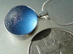 HL Sea Glass & Beach Glass Jewelry, sea glass marble necklace.