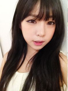 The Hairstyle to Try this Spring: Asian See Through Bangs♡