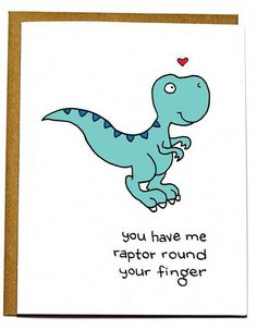 Are you looking for a little humor to liven up this year's Valentine's Day? these Valentine& day cards will be sure to make you and that special someone laugh out loud. Sooo Punny More Puns! Funny Valentines Cards, Funny Cards, Cute Cards, Dinosaur Cards, Dinosaur Puns, Raptor Dinosaur, Love Card, Love Puns, Pun Card