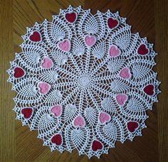 Pineapple Heart Doily - Media - Crochet Me