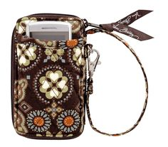 Vera Bradley All in One Wristlet in Canyon - Finally mine and everyone should have one! Michael Kors Jet Set, Saddle Bags, Vera Bradley, Purses And Bags, All In One, Pure Products, My Style, Leather, Gifts