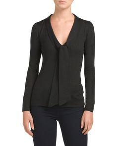 Long+Sleeve+V-Neck+Sweater