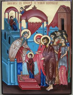 Entrance of the Theotokos in the Temple by Michael Solodchi of Romania