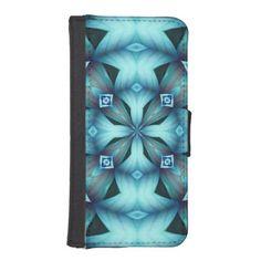 BLUE KALEIDOSCOPE WALLET CASE iPhone 5 WALLET