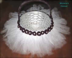 Make a Tulle Easter Basket with Dollar Tree supplies #bride #wedding #easter