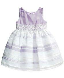 Sweet Heart Rose Organza Illusion Dress, Little Girls (2-6X)