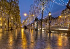 Champs Elysees at Christmas--was here ---the best New Years of my life!