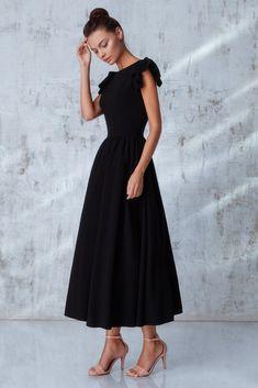 Платье «Кэнди» миди черное, Цена— 27990 рублей