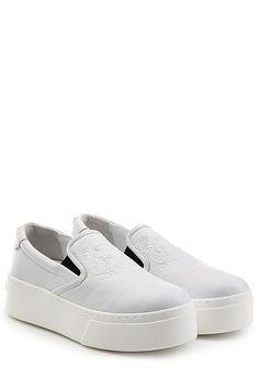 Platform Leather Slip On Sneakers detail 0