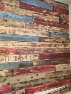 Reclaimed Wood Art, Rustic Wood Walls, Barn Wood, Wooden Accent Wall, House Cladding, Diy Pallet Furniture, Rustic Shelves, Ship Lap Walls, Cool Walls