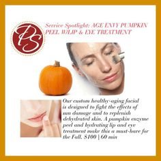 We're not saying you need our Age Envy Pumpkin Peel. But you'll definitely want it! Call us at 770.435.9100 to schedule your appointment here at The Posh Spot!