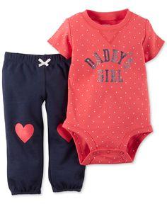 Carter's Baby Girls' 2-Piece Daddy's Girl Bodysuit & Pants Set