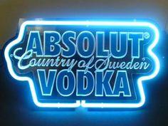 pronta entrega luminosos neon - display absolut vodka
