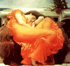 Flaming June by Frederick Leighton. One of my favorite paintings.
