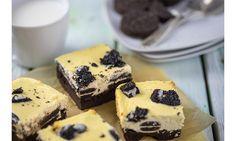 Jetzt bestellen: Oreo-Cheesecake Brownies | Anni´s Leckereien Oreo Cheesecake, Brownies, Desserts, Food, Treats, Bakken, Cake Brownies, Tailgate Desserts, Deserts