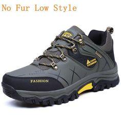 39-47 Men Boots Plush Warm Leather Winter Shoes Men Anti-Skidding Winter Boots Men Big Size #climbingshoes