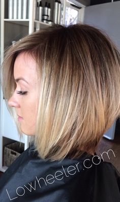 Cropped sandy blonde Balayage ombré colormelt by Lo Wheeler. Lowheeler.com Instagram @lowheeler_hairtherapy