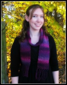 I created this scarf as a quick project to wear with my black dress and new tall boots. I wanted something I could crochet super fast and that was very easy. The Red Heart Boutique Unforgettable yarn is absolutely beautiful and turned this simple scarf into something special. Perfect for the fall weather we …
