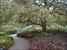 Walkway In The Formal Garden at Prescott Park