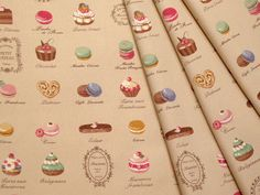 Yuwa Fabric Macaron and sweets. $6.50, via Etsy.