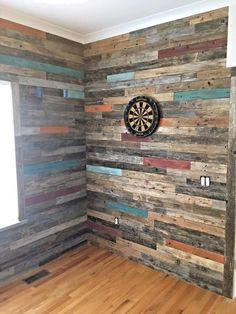 Reclaimed wood accent wall wall planks diy modern farmhouse decor rustic wall 50 creative diy rustic home decor ideas on a budget