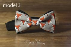 Foxes Bowtie, Bowtie Christmas pattern, Xmas bow tie, New Year's gift, Xmas gift, Holiday accessories
