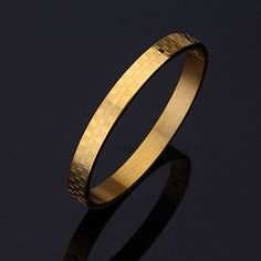 ChokuShop New Vintage Classic Grid Scroll Cuff Bracelets Bangles For Women Real Gold /Titanium Plated Fashion Jewelry Gift MGC >>> To view further for this item, visit the image link. (This is an affiliate link) Plain Gold Bangles, Mens Gold Bracelets, Mens Gold Rings, Mens Gold Jewelry, Gold Bangles Design, Gold Jewelry Simple, Gold Jewellery Design, Bangle Bracelets, Link Bracelets