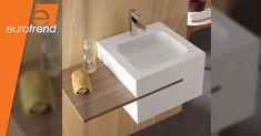 EuroTrend - Innovation Beyond Imagination Basin Design, Basins, Corian, Bathroom Accessories, Innovation, Vanity, Shapes, Website, Interior Design