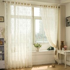 Home Textile Bright White Voile Sheer Curtains For Living Room Tulle Curtains For Bedroom Linen Voile Curtain For Kitchen Window Cortinas Drapes Quality And Quantity Assured