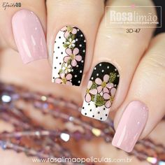 We have combined the most fashionable nail designs for you. If you want to have very nice quotes this summer, you should definitely look at these models. you are sure that one of these models is your style! Cute Nail Designs, Acrylic Nail Designs, Cute Nails, Pretty Nails, Hair And Nails, My Nails, Floral Nail Art, Butterfly Nail, Purple Nails