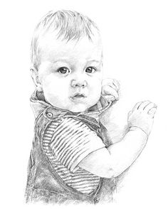 Baby pencil portrait drawing by Margaret Scanlan | Baby - Card - Zubehör| Baby - Card - Zubehör. Description from pinterest.com. I searched for this on bing.com/images