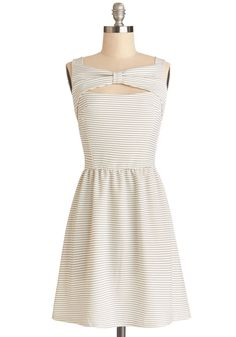 Keepin' It Reel Dress. A casual movie date has never been cuter! #white #modcloth [SOLD]