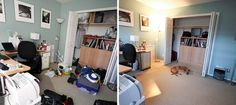 The Magic of Tidying Up: The Japanese Art of Decluttering and Organizing - Quick 5 minutes DIY Ideas Space Hack, Organizar Closet, Minimalist Closet, Muebles Living, Master Bedroom Closet, Vertical Storage, Declutter Your Home, Tidy Up, Closet Organization