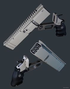 ArtStation - revolver, Maxim Perchun Sci Fi Weapons, Weapon Concept Art, Weapons Guns, Fantasy Weapons, Guns And Ammo, Armes Futures, Future Weapons, Modelos 3d, In Case Of Emergency
