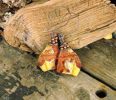 Ladies Natural Edge Cherry Creek Jasper Slab Cut by Mojowoman